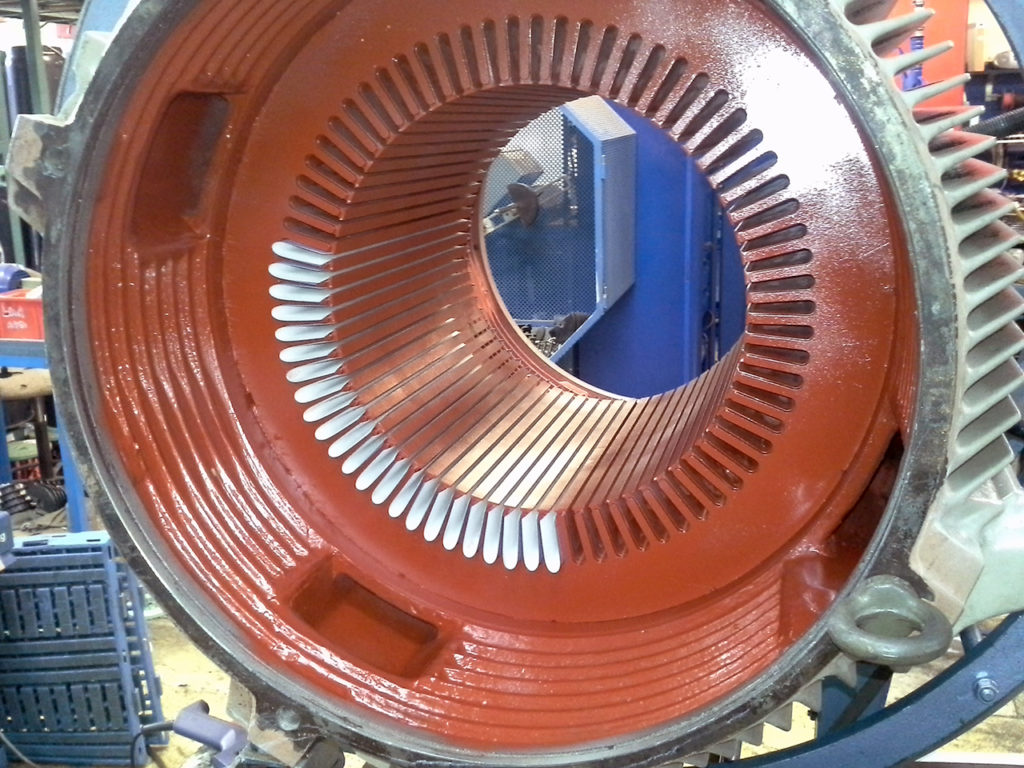 Omlindning elmotor