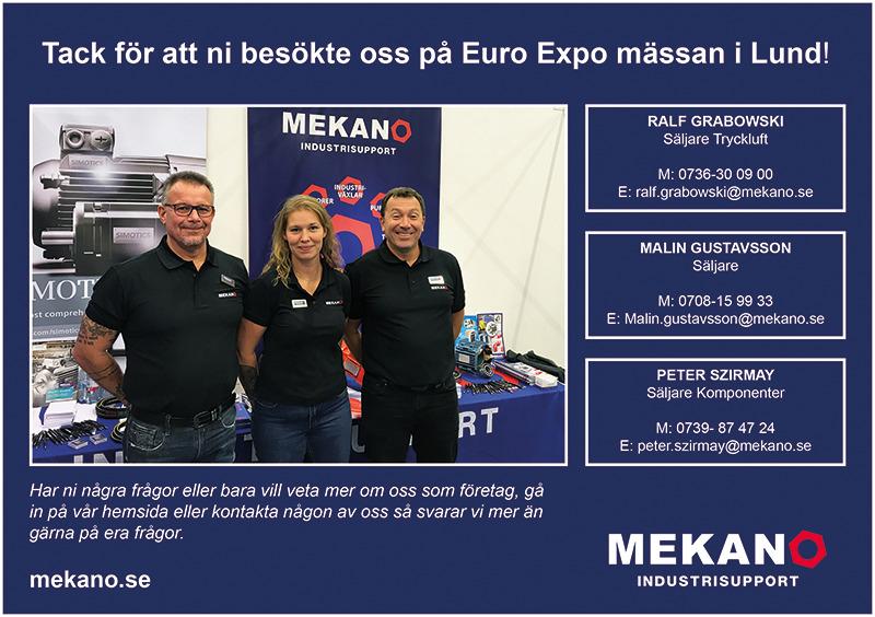 Mekano AB ställer ut på Euro Expo