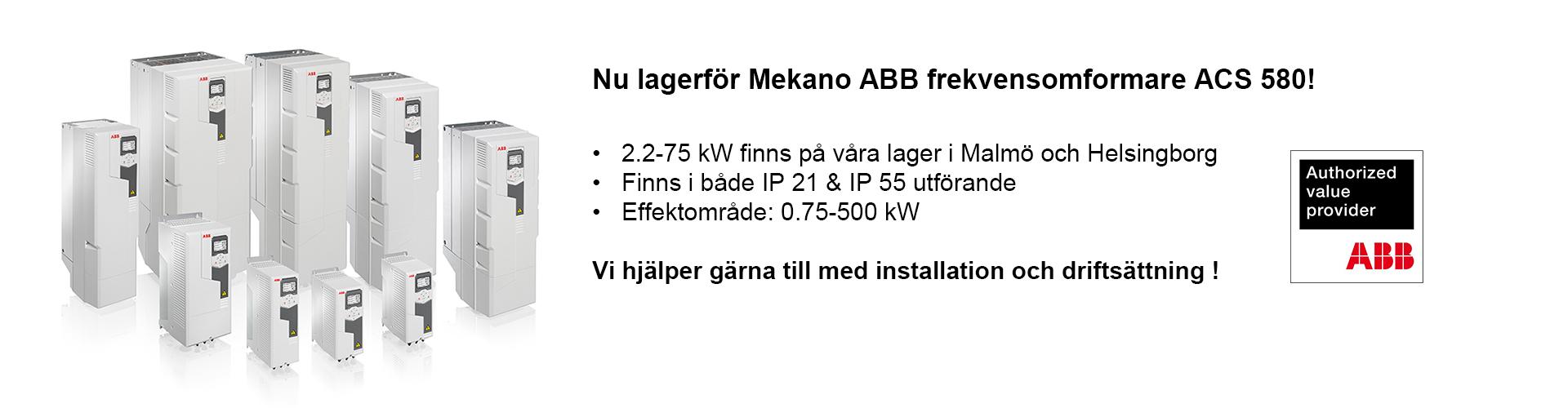 Mekano ABB Frekvensomformare