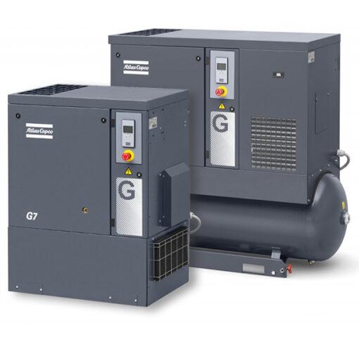 En bild på en Atlas Copco Kompressor i storleken G7-15 FF